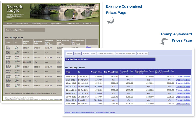 Online booking system software | Property Price Page